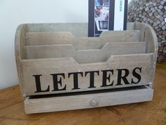 Natural Wooden Letters Tidy By Gisela Graham:Amazon:Kitchen & Home