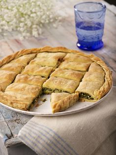 traditional Greek spinach pie.