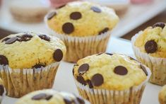 There is actually a ton of options for non-dairy snacks if you look in the right places. To make it easier for you guys, I created a list of my top five Dairy- Free snacks that I enjoy very much. Eggless Banana Muffins, Chocolate Chip Muffins, Banana Bread, Köstliche Desserts, Delicious Desserts, Dessert Recipes, Delicious Cookies, Little Muffins, Dairy Free Snacks