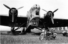 French Amiot 143 bomber captured intact by German troops, 1940.