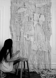 Brooklyn fiber artist / Large-scale macramé & weaving / Natural materials (jute, sisal, raffia ,hemp, wool, cotton) / Un-dyed textiles, natural coloration / Handmade, custom made, custom order / #modernmacrame