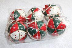 Vianočné patchworkové gule