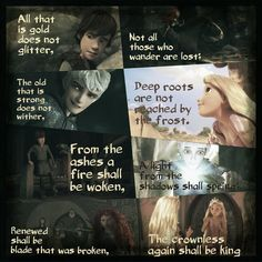 Bilbos Poem with Big Four by ~1JoyDreamer on deviantART (This is more than fan art. This is truly touching.  Artistically well put together, perfectly matched to the poem... brilliant.)