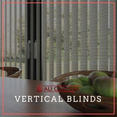 Vertical Blinds offer a great window treatment option being an affordable and functional way to control the light and views at large… Window Treatments, Blinds, Windows, Offices, Ali, Homes, Interiors, Instagram, Fabric