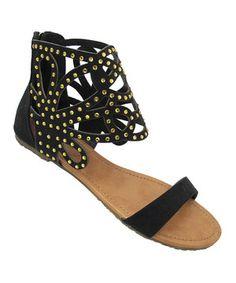 Love this Yoki Black Misha Sandal by Yoki on #zulily! #zulilyfinds