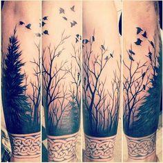 bird sleeve tattoo - Google Search