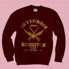 SEEKER Gryffindor Quidditch team Unisex Sweatshirt por geekspride