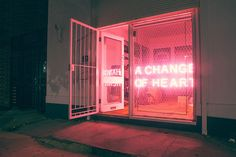 A change of heart - Neon lights - Luces de neón - The Neon Signs on Behance The 1975, Design Shop, Neon Rosa, The Blues Brothers, When You Sleep, Change Of Heart, All Of The Lights, Neon Aesthetic, Alien Aesthetic
