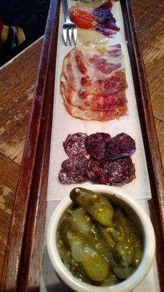 Celebrity chef restaurants The Purple Pig's charcuterie platter