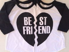 BFF Best Friends Forever Black or Red Heart Solid by IndieNook so cute for lit - Bestfriend Shirts - Ideas of Bestfriend Shirts - BFF Best Friends Forever Black or Red Heart Solid by IndieNook so cute for little BFFs or siblings! Bff Shirts, Best Friend T Shirts, Best Friend Day, Best Friend Outfits, Best Friend Goals, Best Friends Forever, Cute Shirts, Friends Shirts, Bff Goals