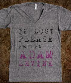 If Lost Please Return To Adam Levine