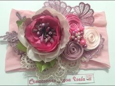 Tiara de hermosas flores VIDEO NO. 549 creacionesrosaisela - YouTube