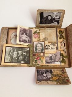 Paper Skies and Hazel Eyes: Collection Folio Challenge! - Paper Skies and Hazel Eyes: Collection Folio Challenge! Mini Album Scrapbook, Scrapbook Bebe, Mini Albums Scrap, Scrapbook Journal, Scrapbook Cards, Handmade Journals, Handmade Books, Handmade Cards, Paper Art