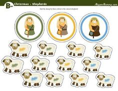 Shepherd and sheep sorting page Christmas Pack : preK to 1st by MissionMummy | Teachers Pay Teachers Quick Print, Basic Shapes, Teacher Newsletter, Sorting, Sheep, Religion, Packing, Bible, Paper Crafts