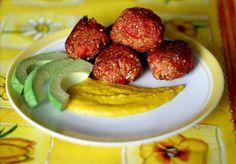 Hirsebällchen mit Kurkumadip ♥ milletballs with turmeric-dip