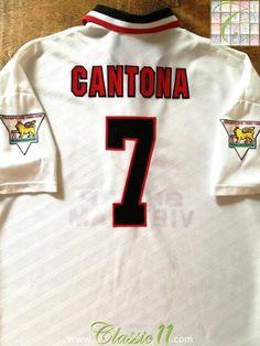 1996 97 Man Utd Away Premier League Football Shirt Cantona  7   Jersey  89ccfe69d