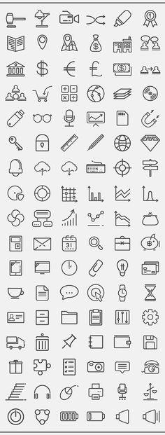 thin line icons pack for cv  resume  job