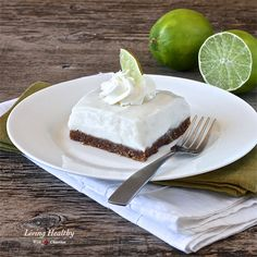 Paleo Key Lime Pie Bars (gluten free, egg free, dairy free) | living healthy with chocolate