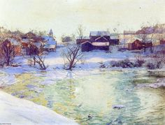 Normansvale, aquarelle de Walter Launt Palmer (1854-1932, United States)