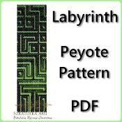 Labyrinth Peyote Pattern - pdf - via @Craftsy
