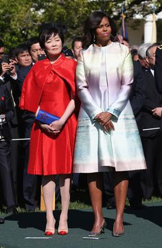 Michelle Obama Photos: President Obama Welcomes Japanese Prime Minster Shinzo Abe To The White House