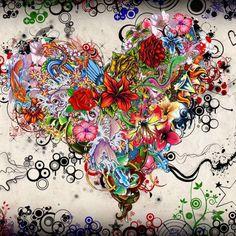 Street Art Wallpaper Love Pictures Art Design for iPhone Multicolor Wallpaper, Colorful Wallpaper, Disney Art Drawings, Fantasy Sketch, Images D'art, Art Amour, Graffiti, Design Floral, Floral Motif