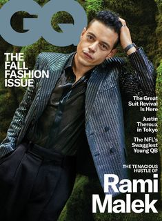 Rami Malek doesn't comment often on his girlfriend Lucy Boynton. But in GQ, the actor revealed he feels lucky to have found love with the actress when filming Bohemian Rhapsody. Mr Robot, Rami Malek, Freddie Mercury, Gq Usa, Gq Magazine Covers, Gq Mens Style, Gq Style, Perfect Gift For Girlfriend, Men Fashion