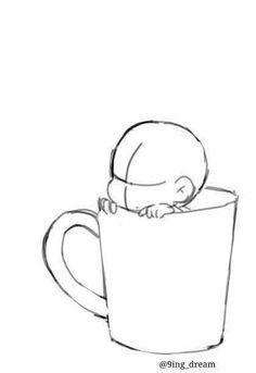 Anime Drawings Sketches, Pencil Art Drawings, Kawaii Drawings, Cute Drawings, Chibi Sketch, Chibi Drawing, Manga Drawing, Drawing Templates, Poses References