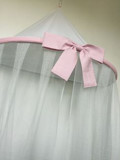 Princess bed canopy pink bow single bed canopy cot by BluBobbin