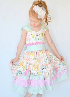 Girls Fancy Dress Baby Girl Dress Toddler Dress by GirlWithATwirl  GAH!!!!
