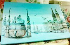 Napkin art. Made by mina.