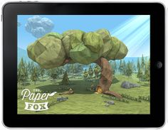 """FREE app brings origami to interactive life—""""The Paper Fox"""" is an interactive tale of adventure, brought to life in the visual style of digital origami and paper-craft."""