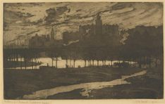 "Jessie TRAILL ""Melbourne from Richmond paddock"" 1912"
