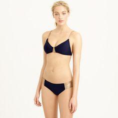j crew | Metallic colorblock french bikini top & metallic colorblock hipster bikini bottom | 12 & 10 from 58 & 50