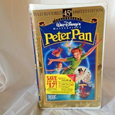 Masterpiece Collection VHS Peter Pan 45th Anniversary Limited Edition Sealed