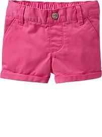 Cuffed Twill Shorts for Baby