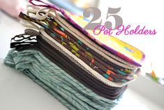 Show Off Saturday Linky Party: See my 25 potholders! — SewCanShe ...