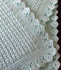 58 Ideas for crochet patterns blanket girl baby afghans Crochet Blanket Border, Baby Afghan Crochet, Crochet Borders, Baby Afghans, Afghan Crochet Patterns, Crochet Stitches, Knit Crochet, Knitting Patterns, Baby Blankets