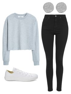 """""""Outfit Idea by Polyvore Remix"""" by polyvore-remix ❤ liked on Polyvore featuring Topshop, Converse, Karen Kane and MANGO"""