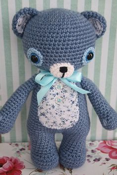 Bruno the blue amigurumi bear | Designs by Mari-Liis Lille | Flickr