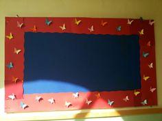 Bulletin board butterfly border