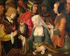 """The fortune teller"" by Lucas van Leyden,1508-10"