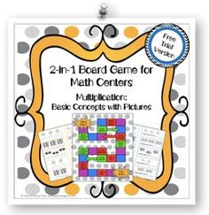 FREE: Want an easy-to-use center game that aligns to the exact learning objectives you're teaching? The 2 different games included in this set enable students to practice the basic concept of multiplication in a fun and engaging way! Check it out at www.games4gains.com.