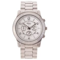 Geneva Platinum Women's Silver Boyfriend Watch: Watches: Amazon.com