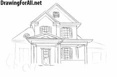 Drawing For Beginners how to draw a house for beginners - Hello, dear readers! Today we bring you a new drawing lesson, in which we will touch upon the theme of architecture. Interior Architecture Drawing, Architecture Drawing Sketchbooks, Conceptual Architecture, Architecture Design, Landscape Architecture, Indian Architecture, Futuristic Architecture, Ancient Architecture, Landscape Rake