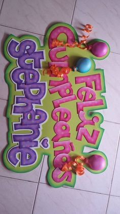 Carteles baby shower goma eva Buscar con Google FOAMY Foam Crafts, Diy And Crafts, Diy Projects To Try, Craft Projects, Foam Sheets, Ideas Para Fiestas, Pink Candy, Creative Art, Diy Gifts