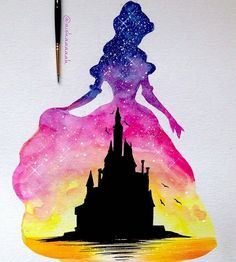 Disney silhouettes, disney silhouette painting, disney castle silhouette, s Disney Drawings, Cute Drawings, Disney Castle Drawing, Drawing Disney, Disney And Dreamworks, Disney Pixar, Disney Paintings, Disney Princess Paintings, Disney Princess Drawings