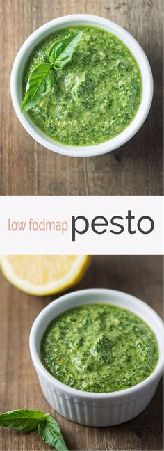 Add fodmap-friendly flavor to zoodles, chicken, shrimp and more with this simple and whole 30-friendly Low Fodmap Pesto recipe made with fresh herbs, lemon and garlic-infused olive oil.