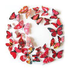 Inspirational D Schmetterlinge er Set Wandtattoo Wandsticker Wanddeko lila D d and In