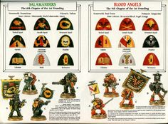 Oldschool Wh40k Warhammer Paint, Warhammer Models, Warhammer Fantasy, Warhammer 40000, Warhammer 40k Salamanders, Warhammer 40k Blood Angels, Marine Colors, The Horus Heresy, Warhammer 40k Miniatures